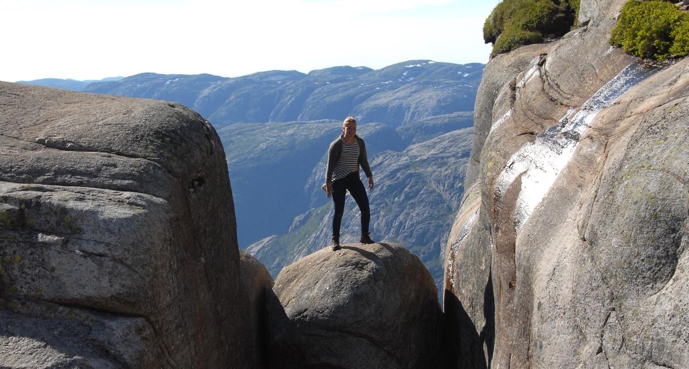 Kjeragbolten Boulder Noorwegen