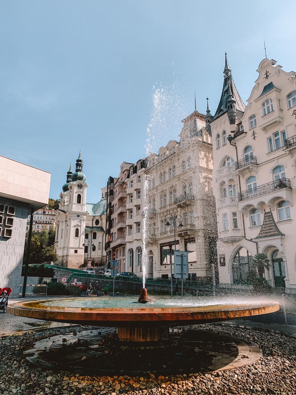 Kleinere hotspring in Karlovy Vary