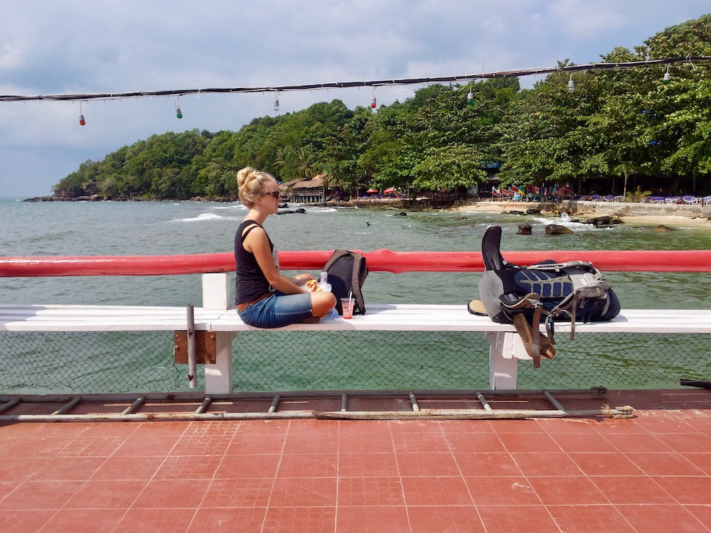 Koh Rong Island Cambodja onderweg