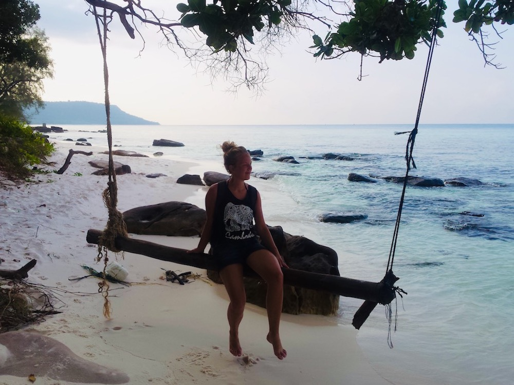 Koh Rong island schommel strand