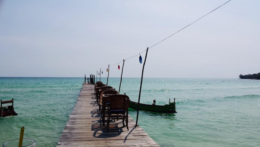 Koh rong island pier cambodja