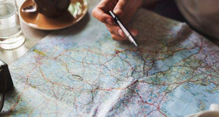 Kortlopende reisverzekering kaart reis plannen