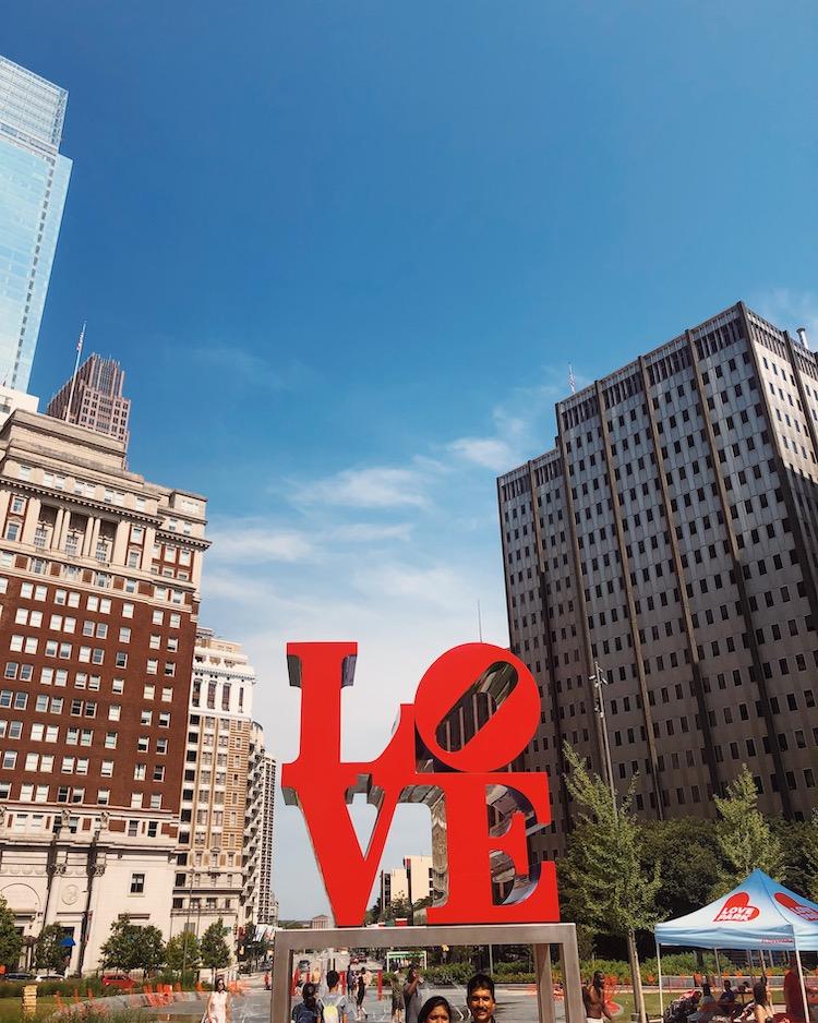 LOVE statue love park philadelphia