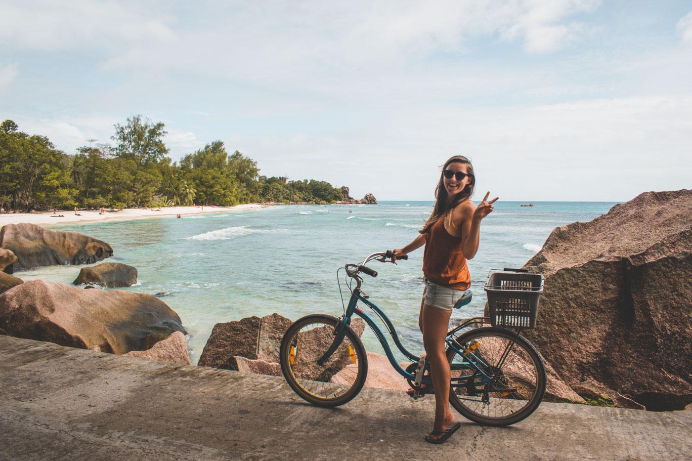 La Digue Seychellen fiets eiland