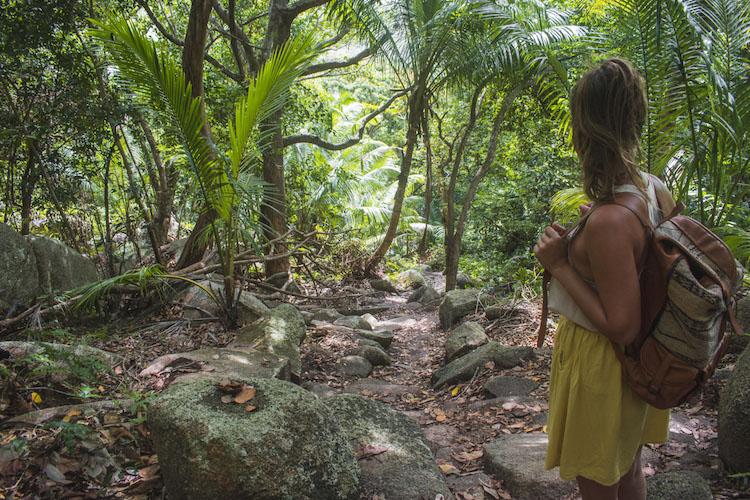 La Digue hike naar petite anse en anse coco