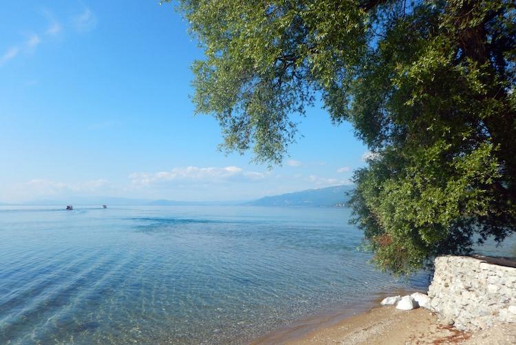 Lake Ohrid uitzicht macedonie