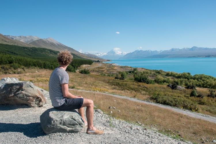 Lake Pukaki Nieuw Zeeland Peter's Lookout