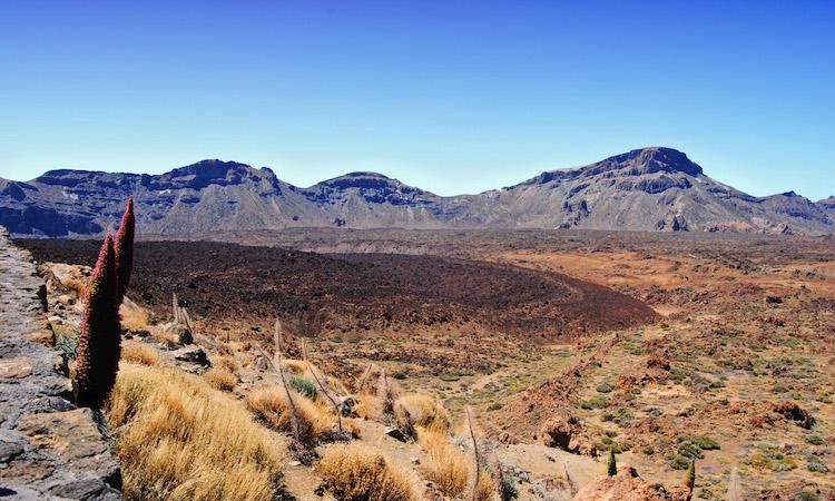 Landschaap vulkaan tenerife el teide