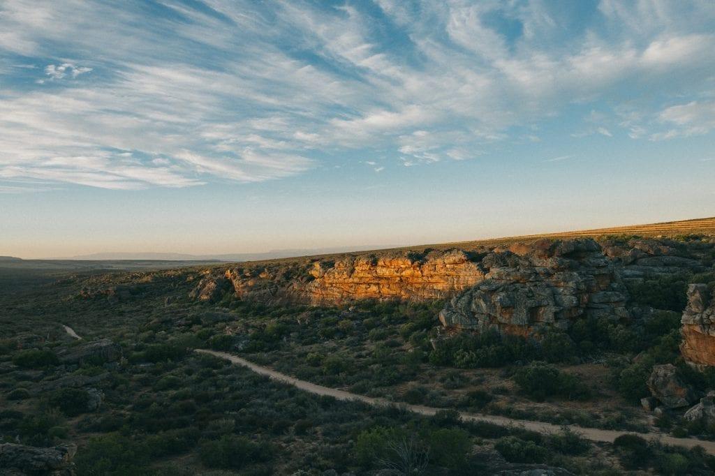 Landschap cederberg zuid-afrika bergen