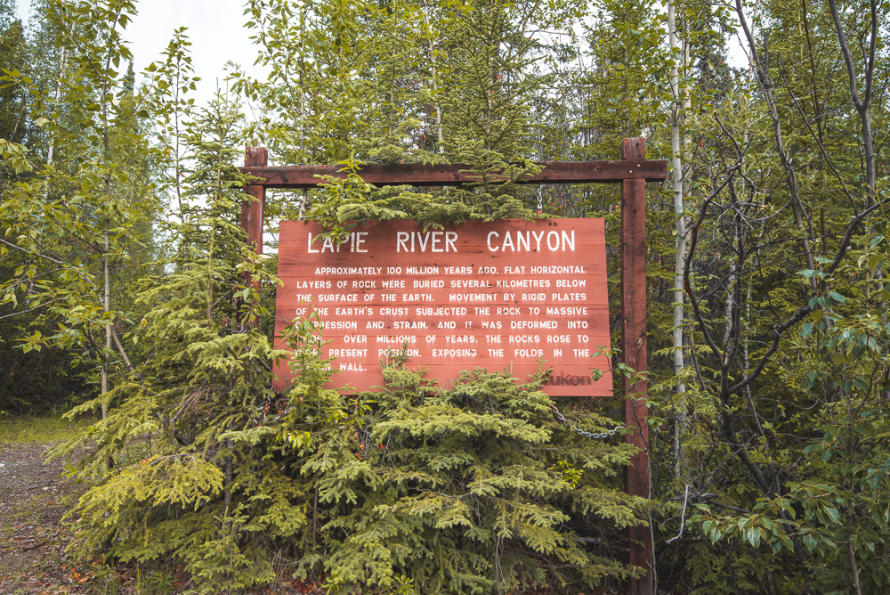 Lapie River Canyon South Canol Road Yukon_