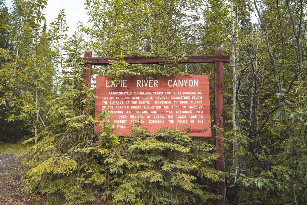 Lapie River Canyon South Canol Road Yukon_