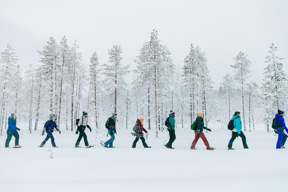 Lapland travel snowshoe excursie