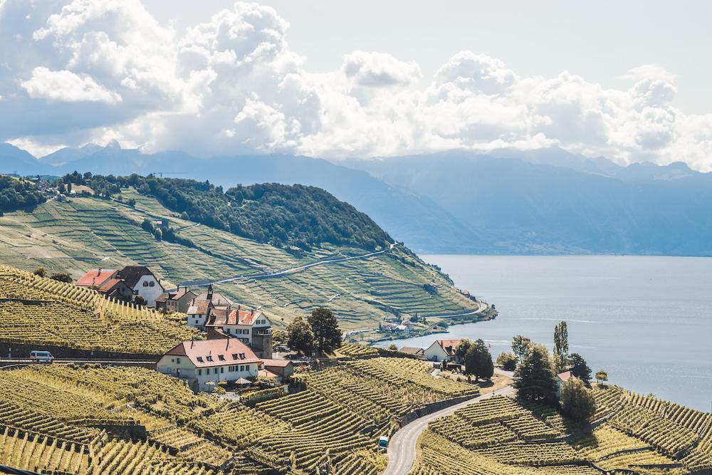 Lavaux meer van geneve zwitserland