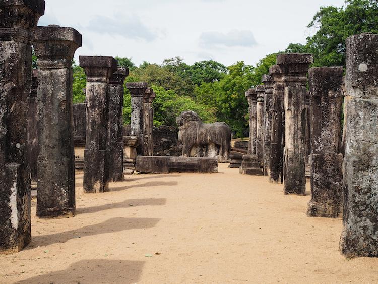 Leeuwen-troon-Polonnaruwa