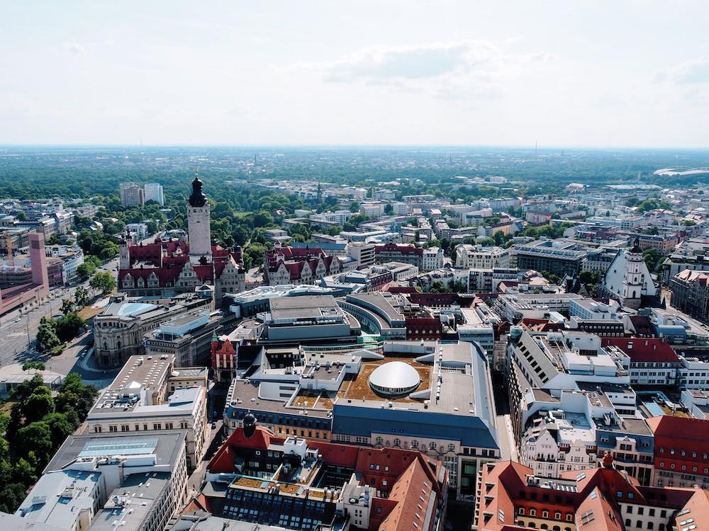 Leipzig uitzicht vanaf universiteit