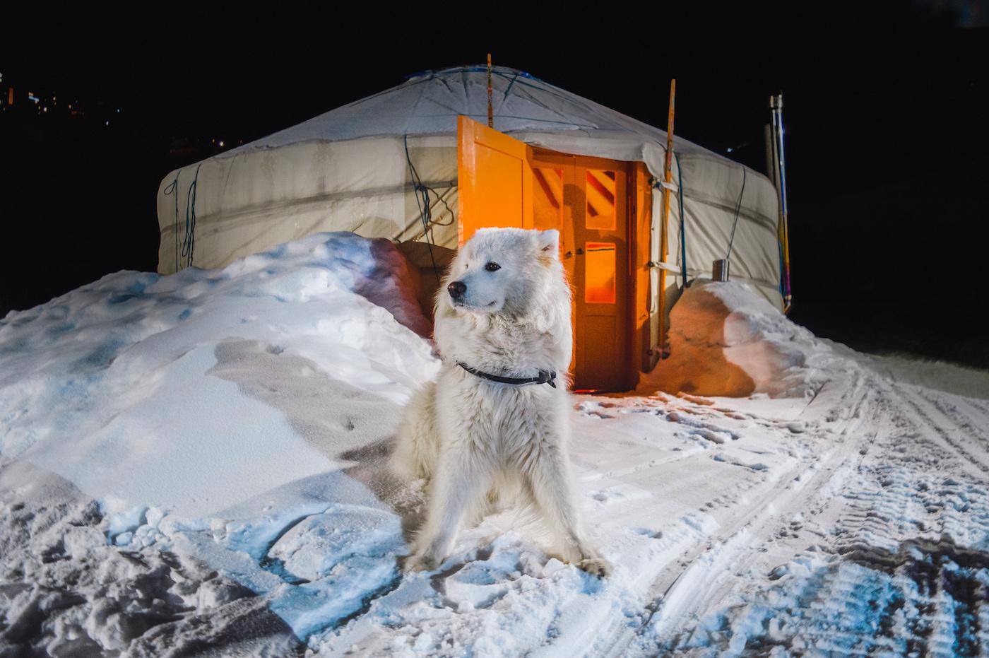 Les menuires wintersporten Yurt yuka