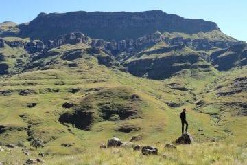 Lesotho gebergte bergen pass