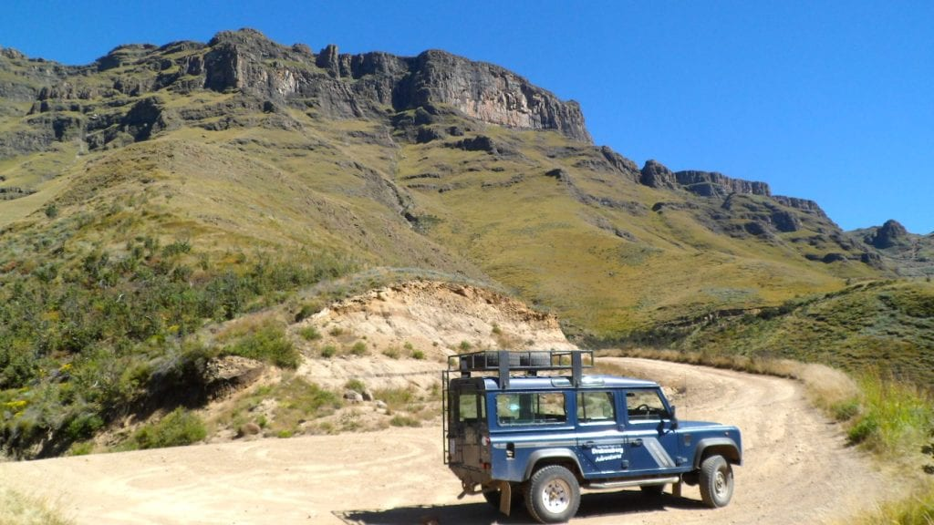 Lesotho roadtrip gebergte
