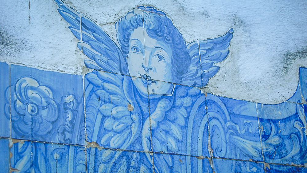 Lissabon tegeltjes muur