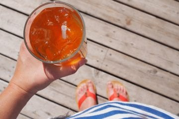 Little Brick Edmonton ice tea
