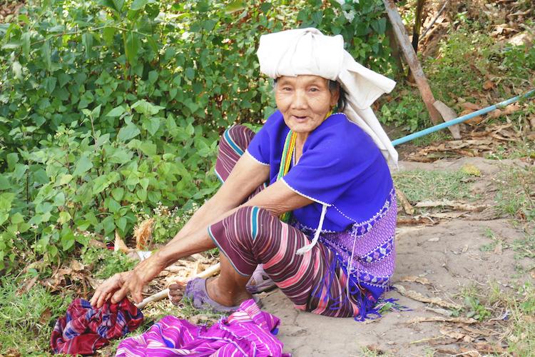 Lokale bevolking in Pha mon chiang mai
