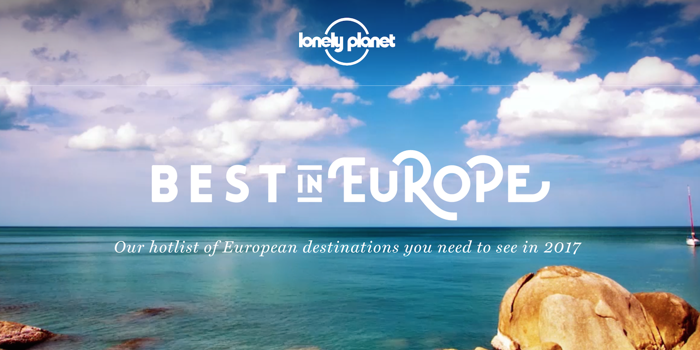 Lonely Planet best in europe 2017