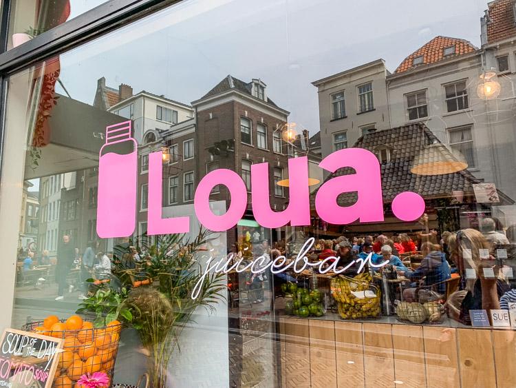 Loua Juicebar in Utrecht vismarkt