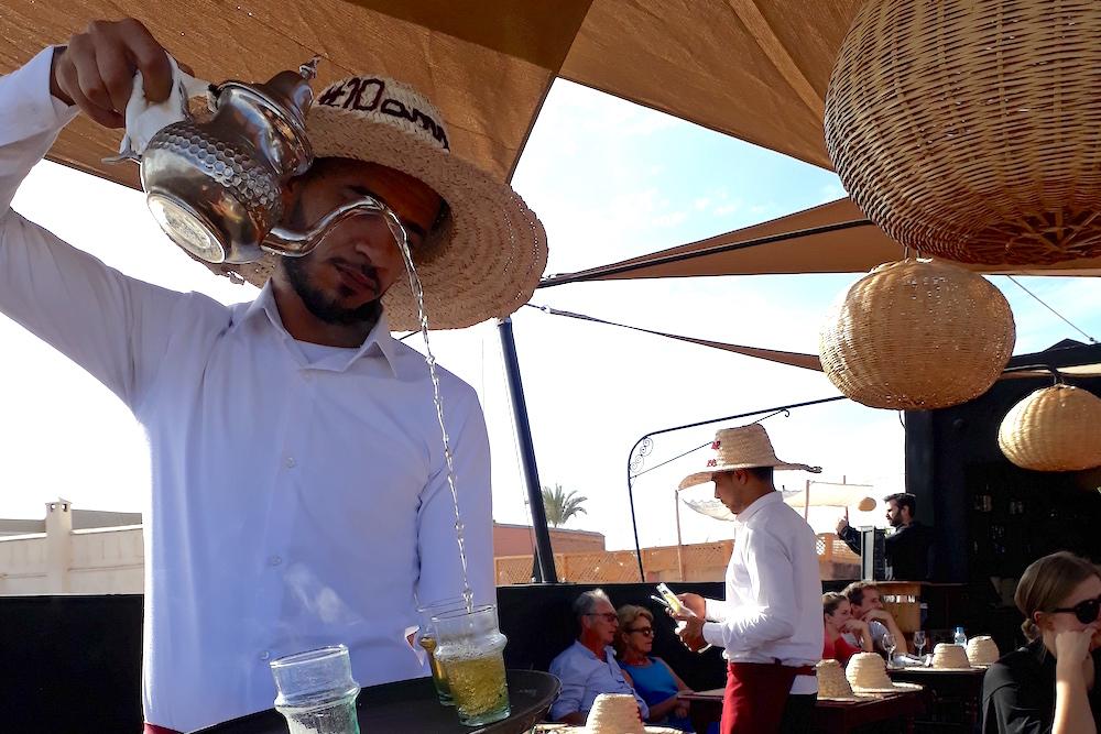 Lunchen marrakech restaurant Terrasse