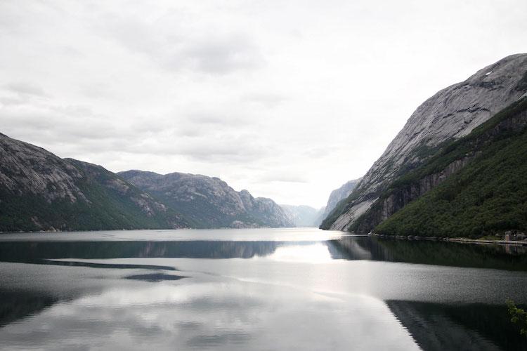 Lysefjord in noorwegen zuiden