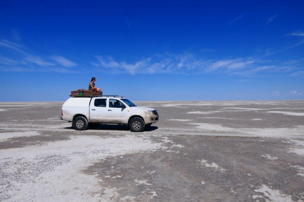Makgadikgadi pans Botswana zoutpannen