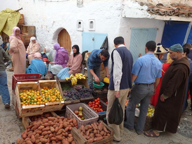 Markt in Marokko Chefchaouen