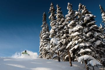 Marmot Basin skier wintersport canadian rockies