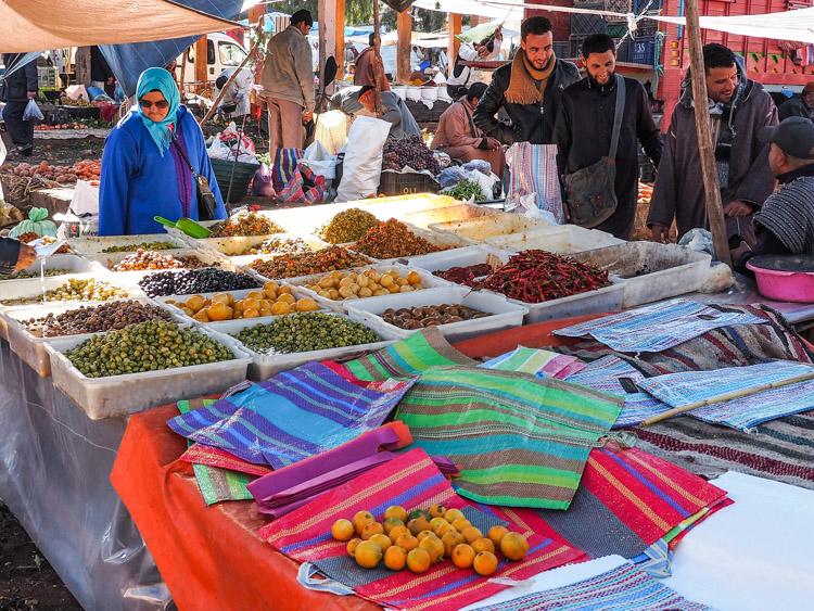 Marrakech omgeving markt