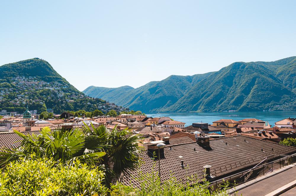 Meer van Lugano viewpoint san lorenzo