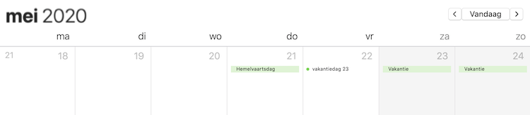 Meer vrije dagen in mei 2020 vakantiedagen