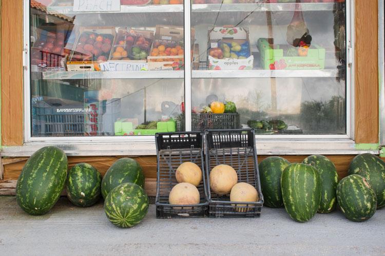 Meloenen fruit zakynthos