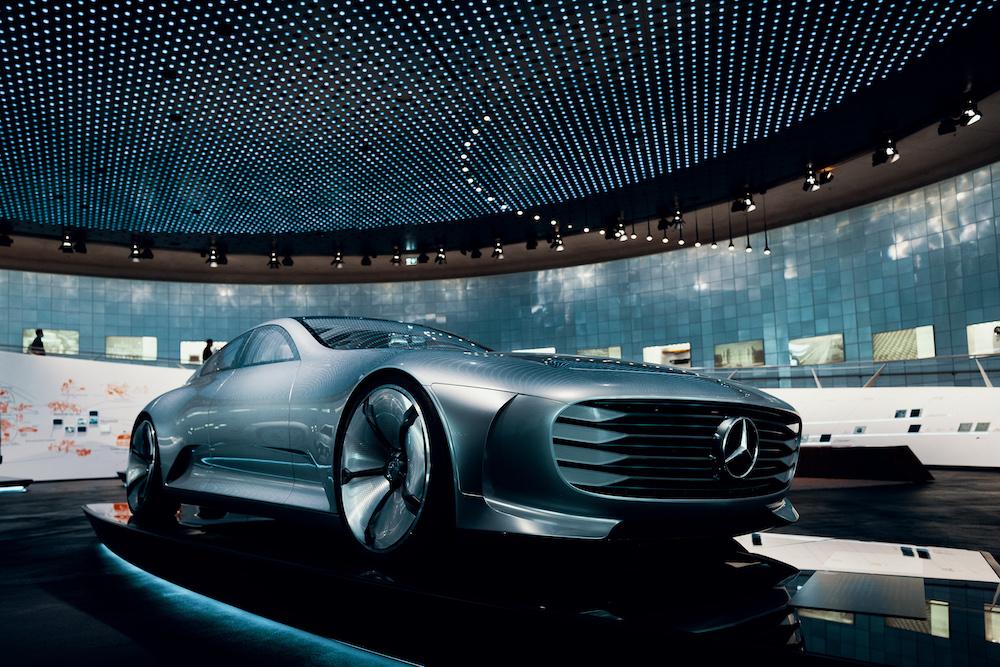 Mercedes Benz Museum nieuwe auto