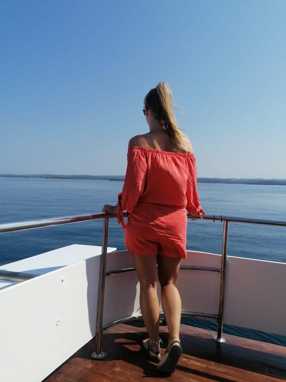 Met de boot op het Limski kanaal