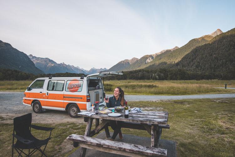 Milford Sound Nieuw Zeeland camping