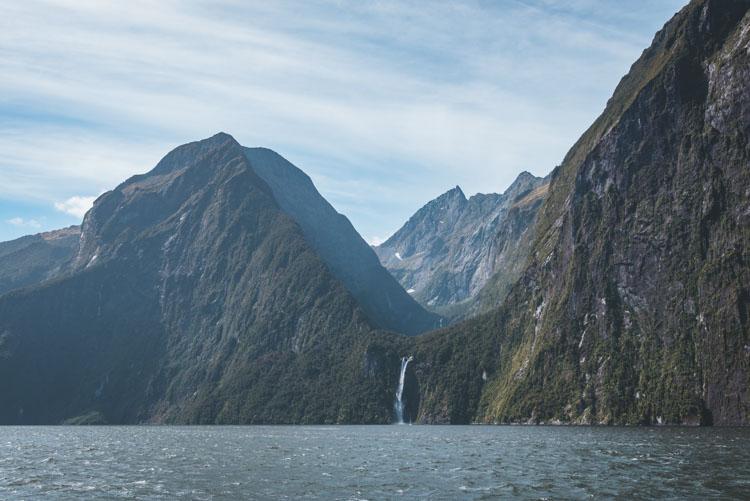 Milford Sound in Nieuw Zeeland cruise