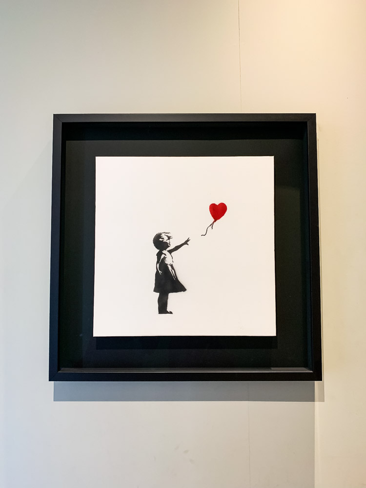 Moco Museum Banksy girl with balloon