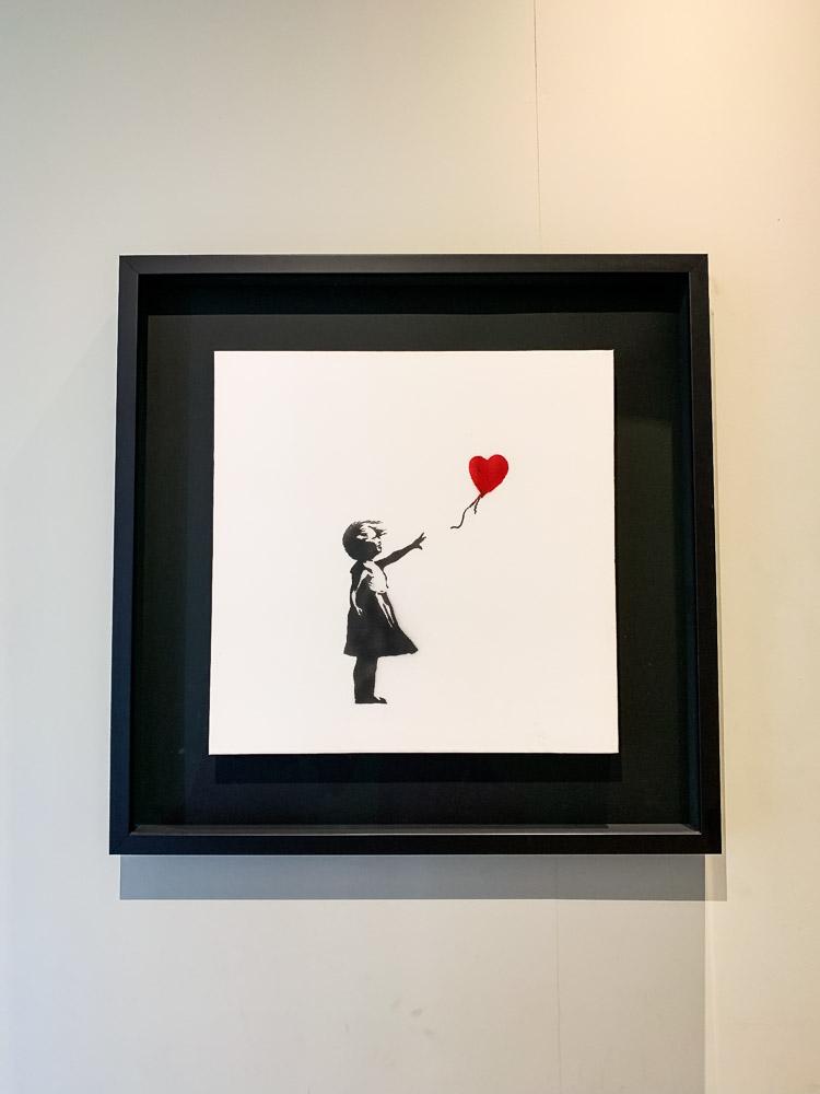 Moco Museum Banksy girl with balloon