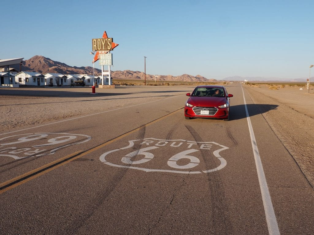 Mojave woestijn route 66 roy's