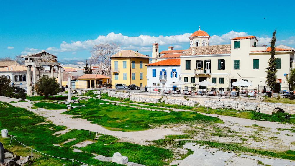Monastiráki en de Romeinse Agora