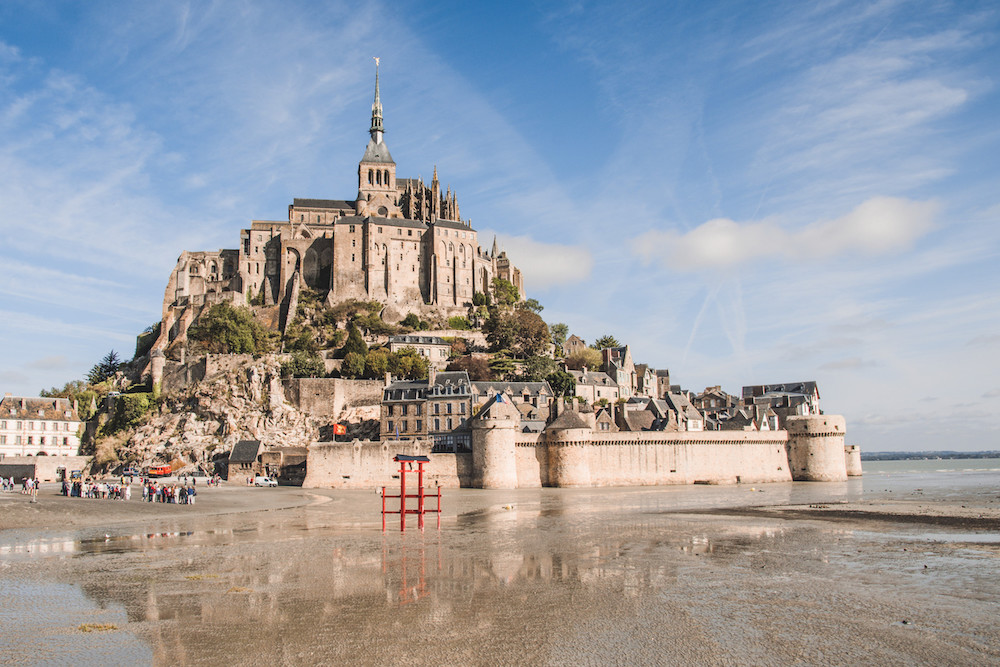 Mont Saint Michel in Frankrijk normandie