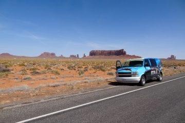 Monument Valley bezoeken auto