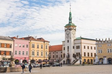 Moravie Kromeriz plein