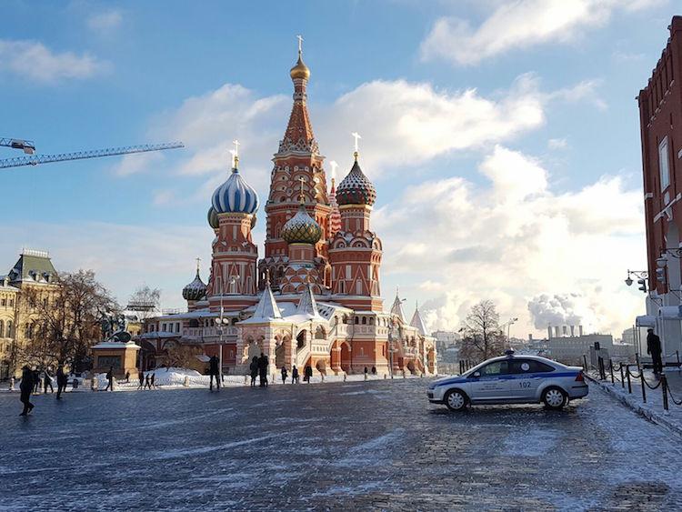 Moskou in de winter 2