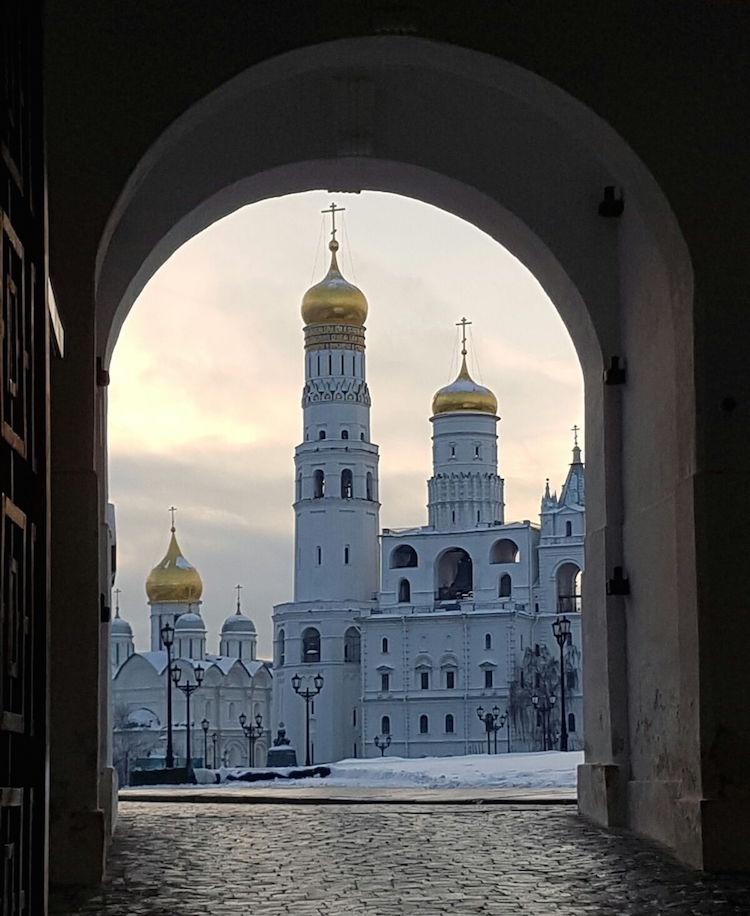 Moskou in de winter verrassing