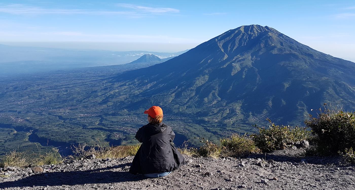 Mount Merapi vulkaan beklimmen